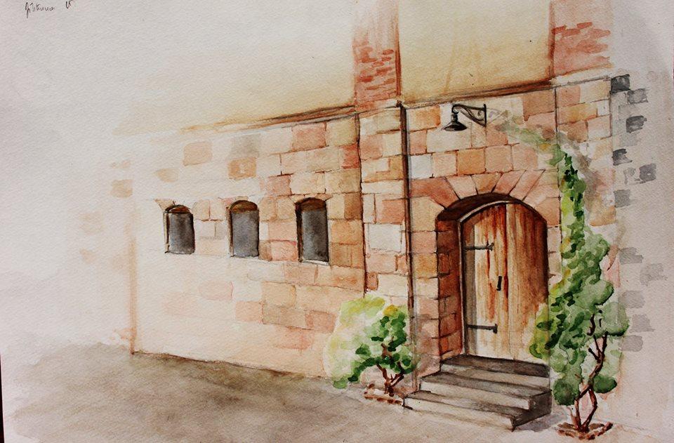 Իննա Մնացականյան․ Փարաջանովի թանգարանի դռան ճեպանկար