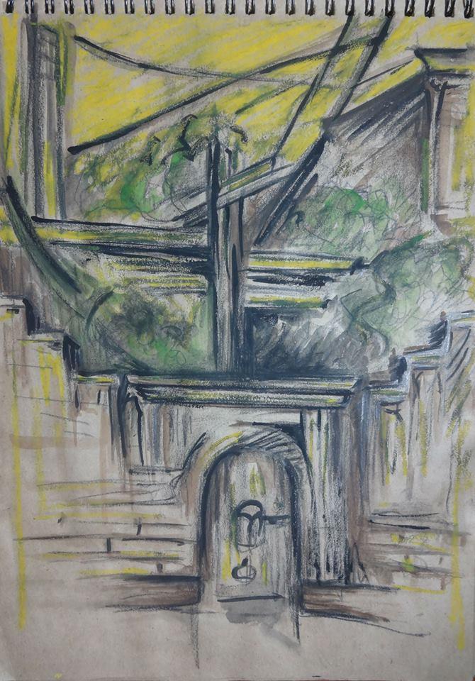 Տաթևիկ Մարտիրոսյան․ Սարյան փողոցի մոտ ընկած բակ