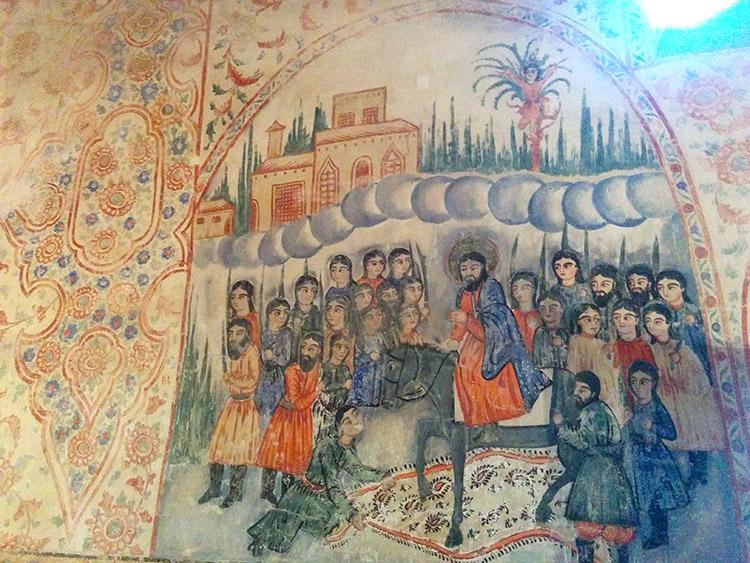 «Հիսուսի մուտքը Երուսաղեմ» պատկեր Սբ. Հովհաննես-Մկրտիչ եկեղեցում